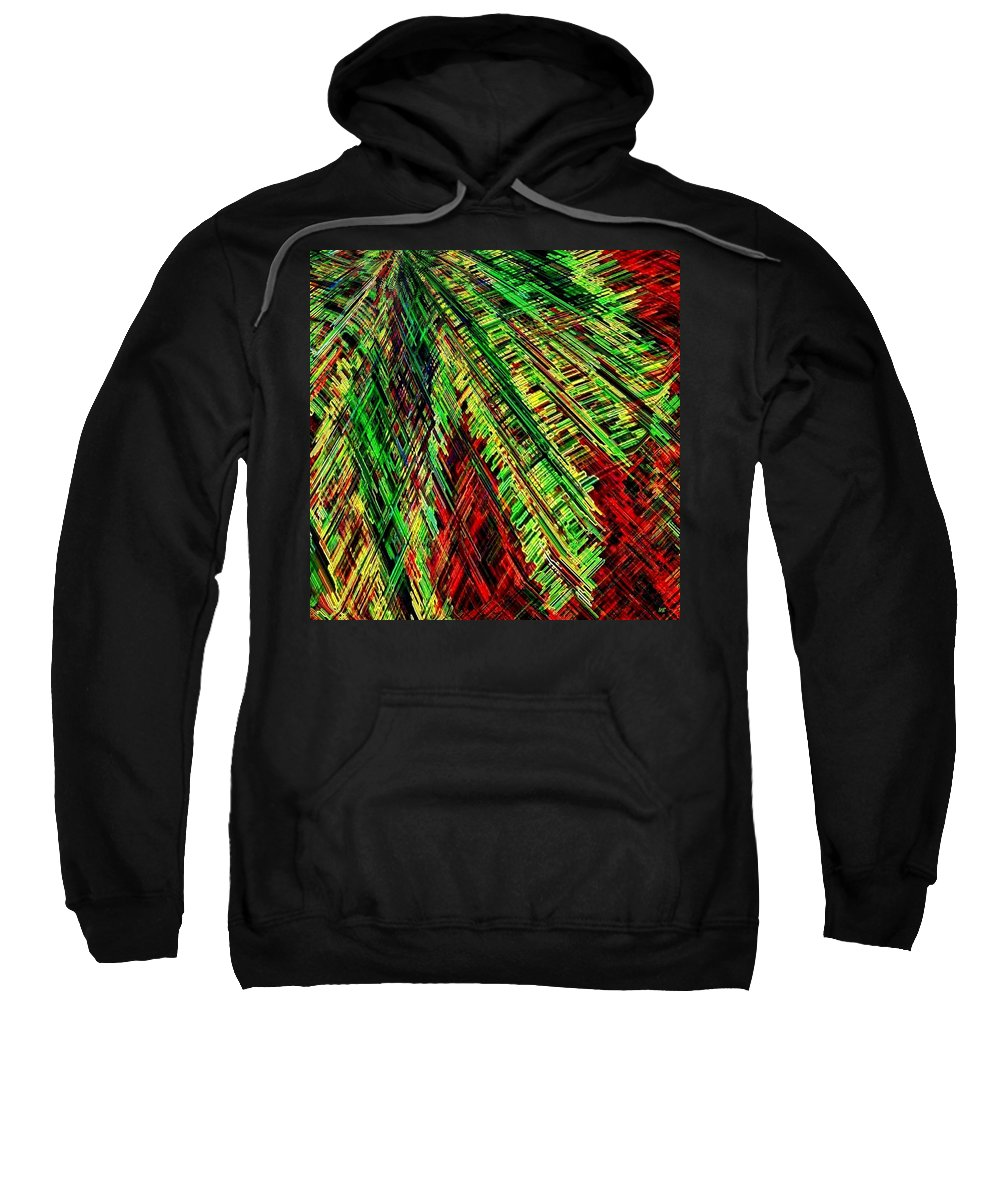 Abstract Sweatshirt featuring the digital art Evergreen by Will Borden