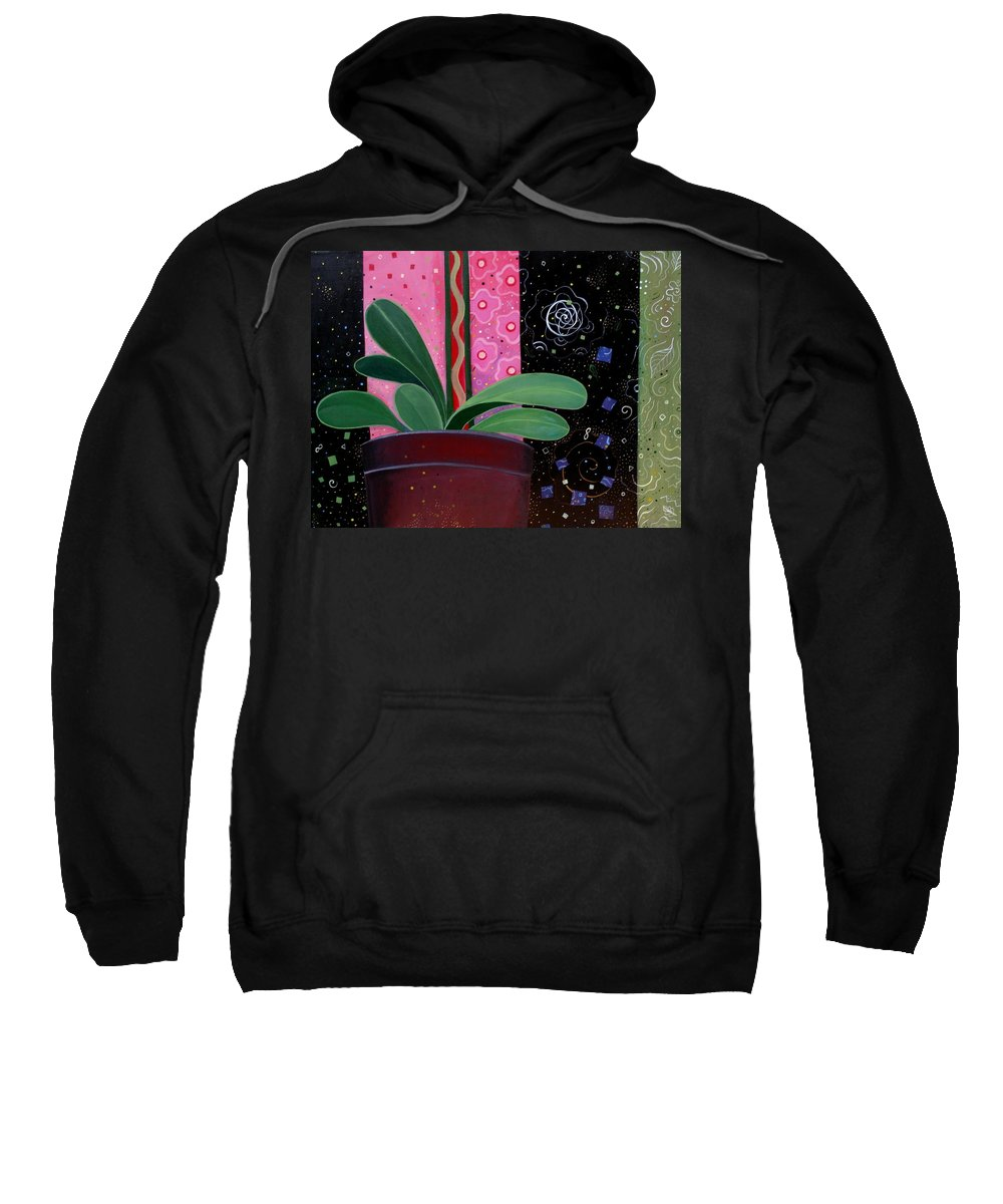 Sacred Sweatshirt featuring the painting Everyday Sacred by Helena Tiainen