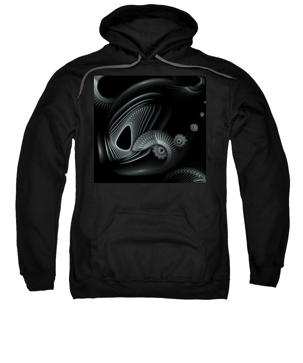 Abstract Sweatshirt featuring the digital art Evincing Insatiability by Casey Kotas