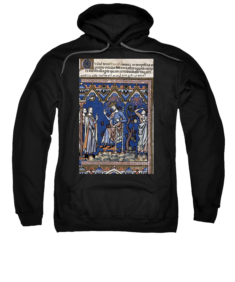 1250 Sweatshirt featuring the photograph Exodus: Plague Of Hail by Granger