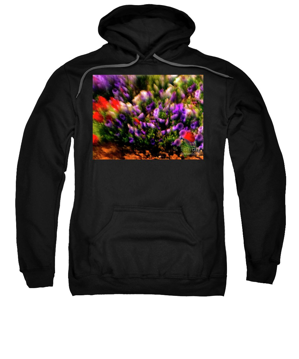 Flowers Sweatshirt featuring the photograph Exploding Flowers 2 by Madeline Ellis