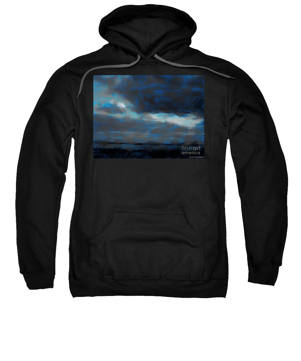 Expressionist View Iv Sweatshirt featuring the painting Expressionist View Iv by James W Stanfield Jr