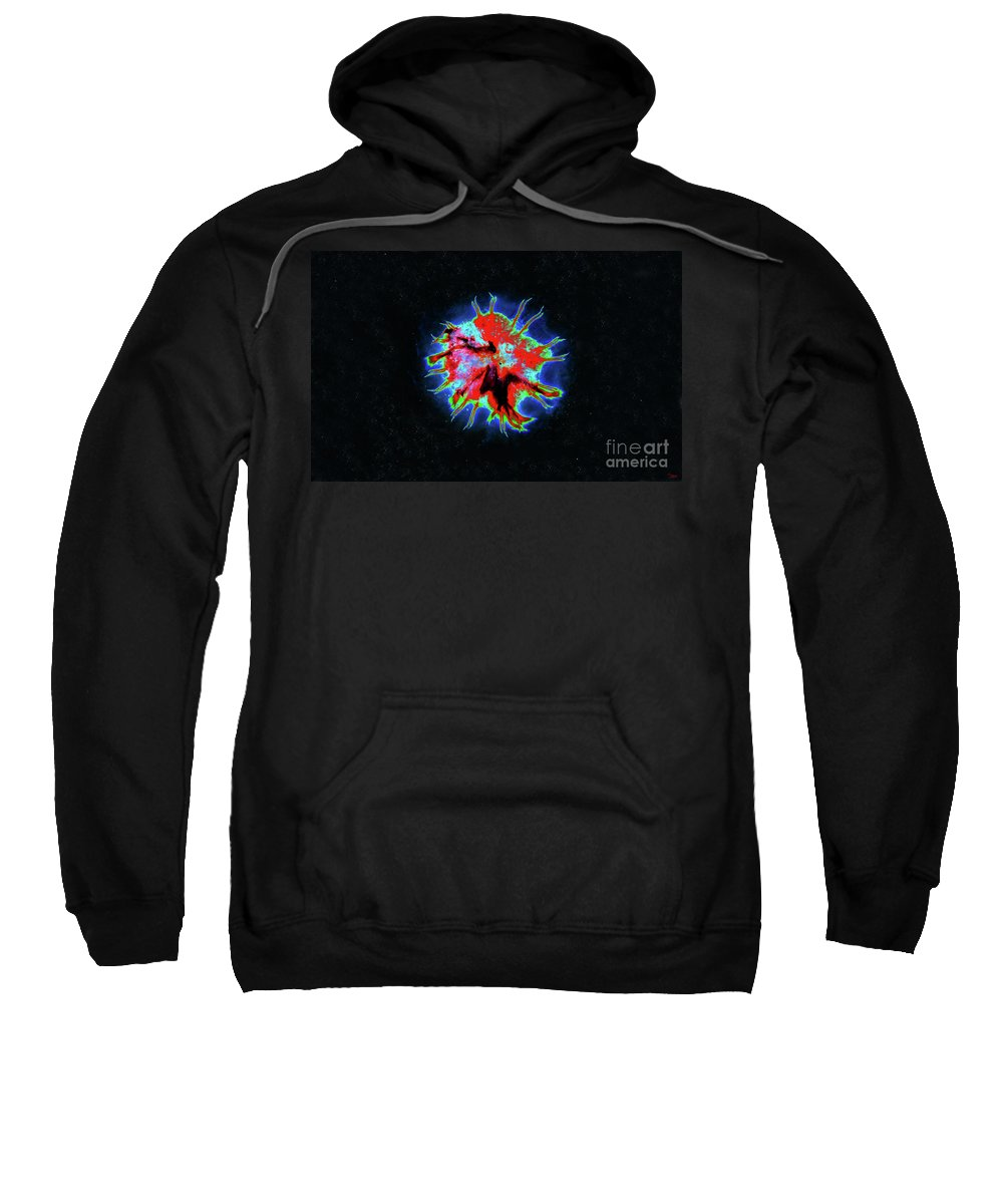 Art Sweatshirt featuring the painting Eye Of Andromeda by David Lee Thompson