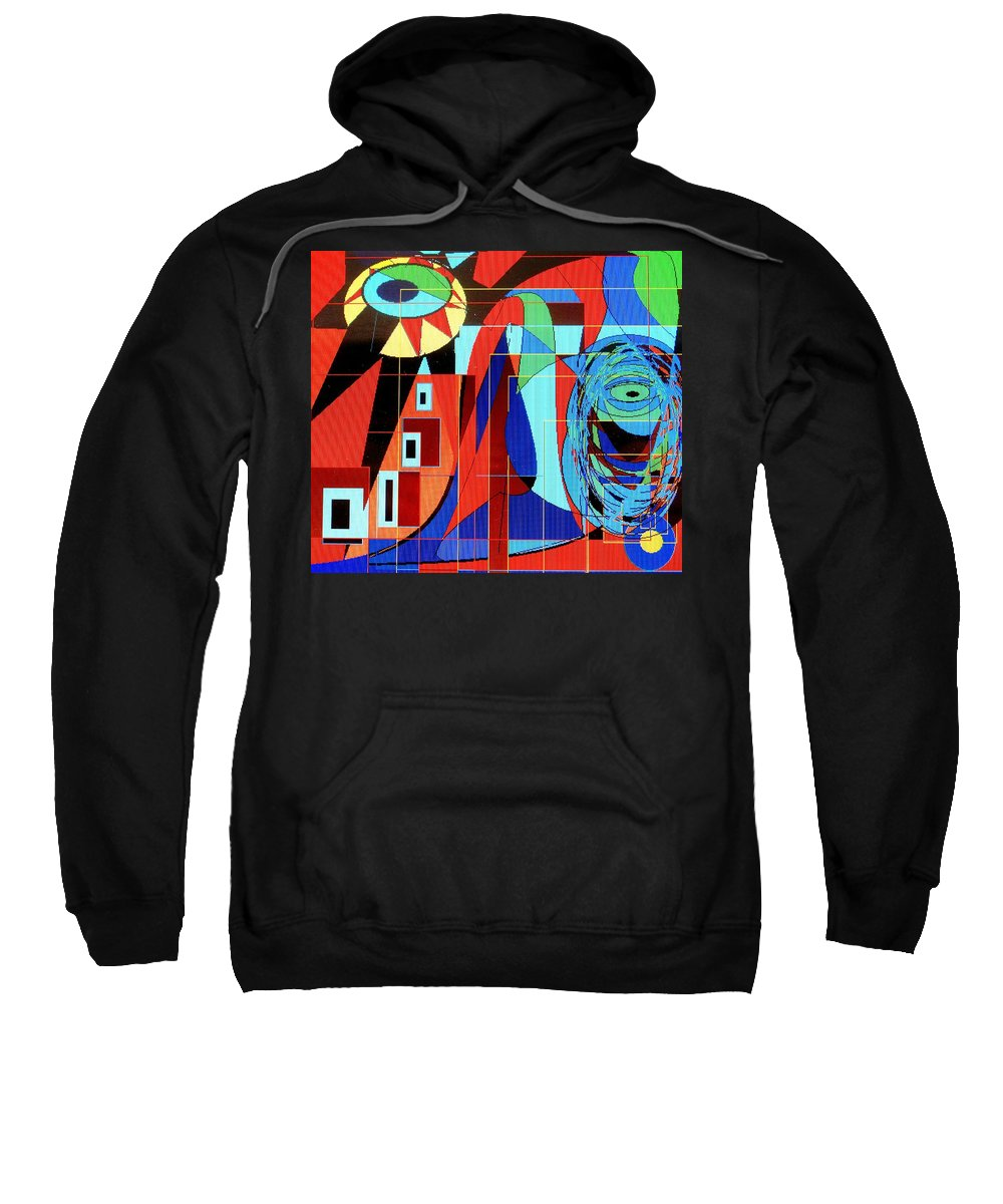 Eye Sweatshirt featuring the digital art Eye Of The Tiger by Ian MacDonald