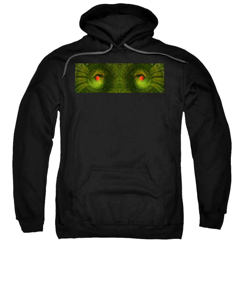 Panorama Sweatshirt featuring the photograph Eyes Of The Garden-2 by Doug Gibbons