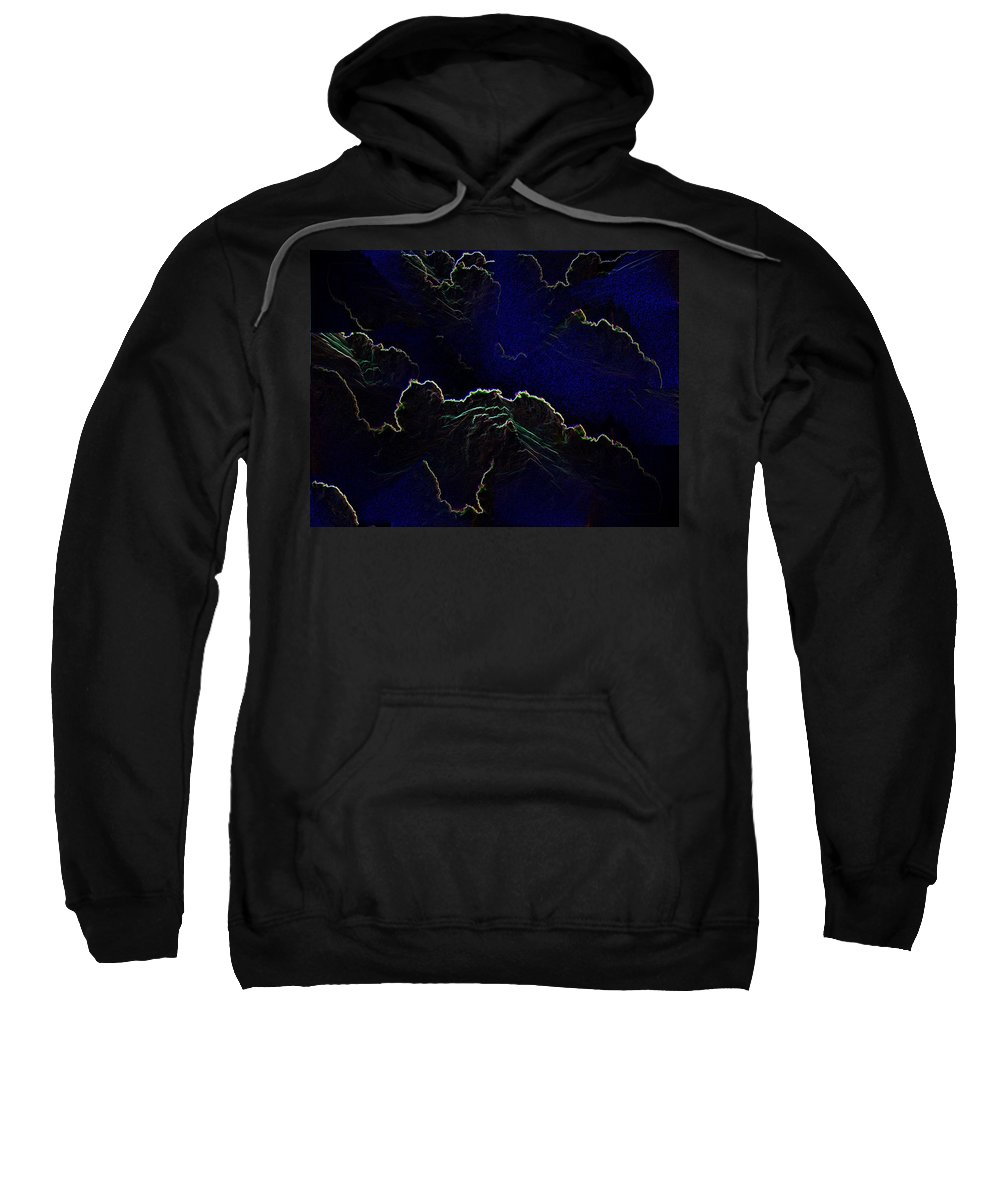 Clouds Sweatshirt featuring the photograph Face Cloud by Tim Allen
