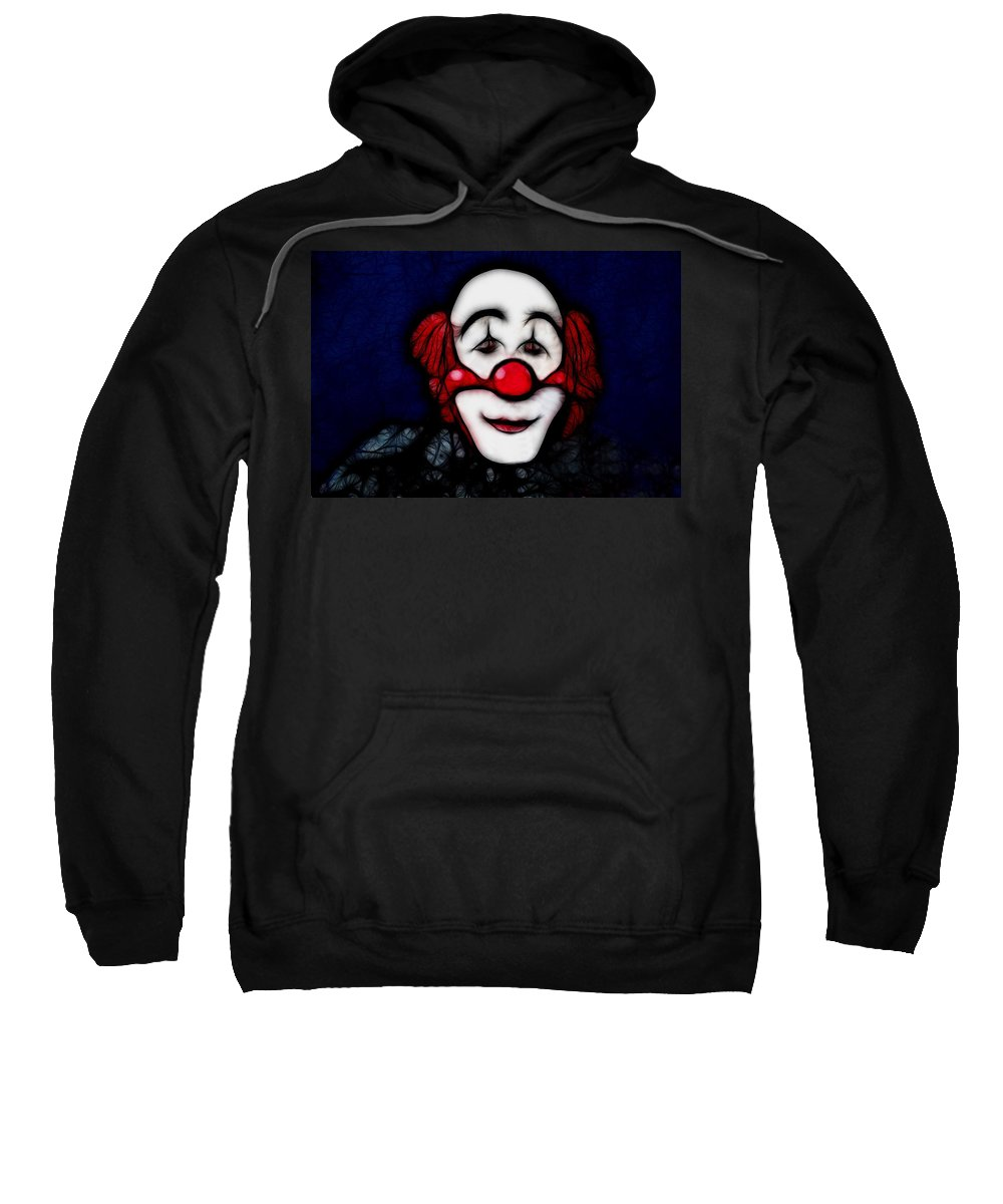 Clown Sweatshirt featuring the photograph Face by Manfred Lutzius