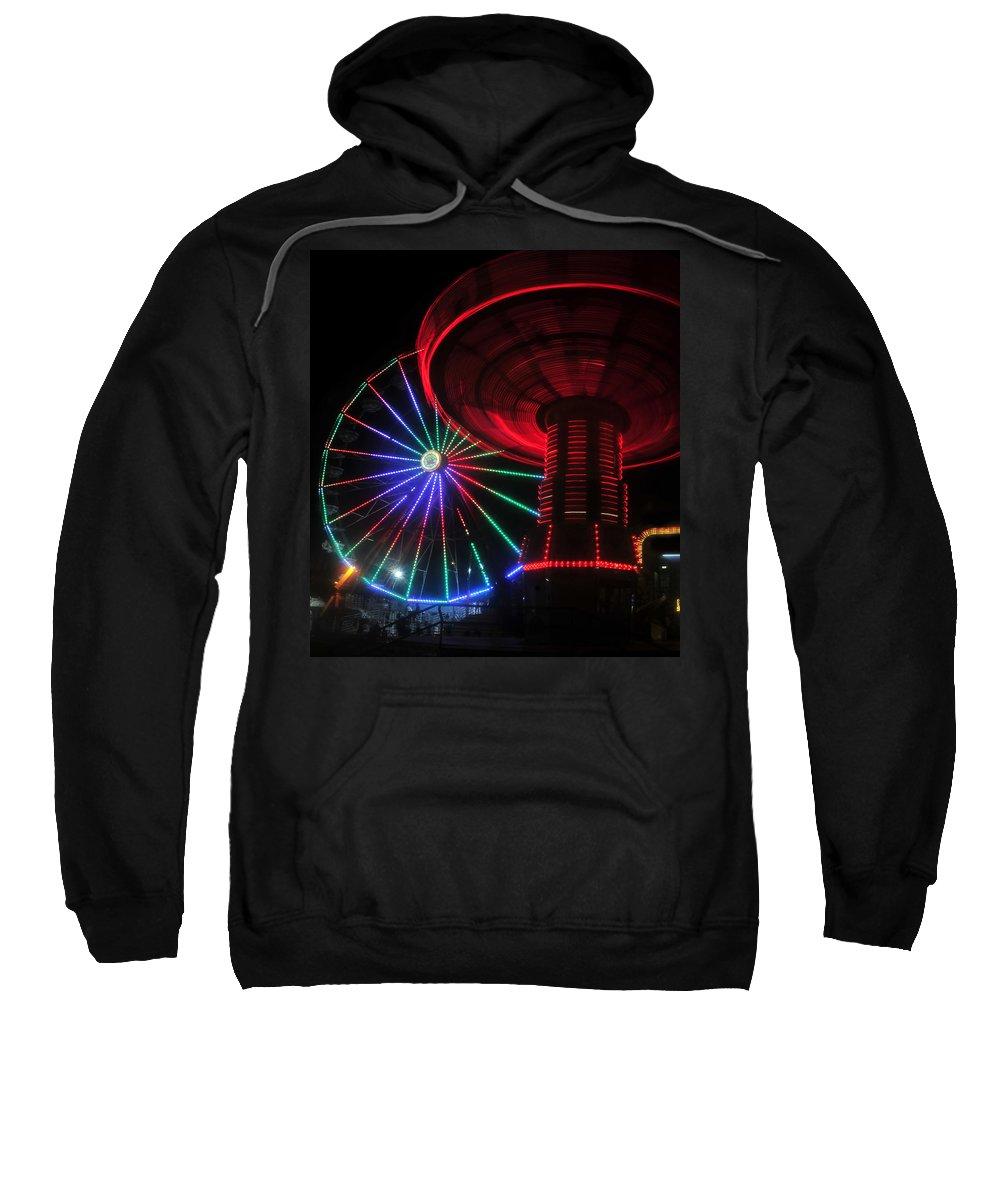 Florida State Fair Sweatshirt featuring the photograph Fair Lights by David Lee Thompson