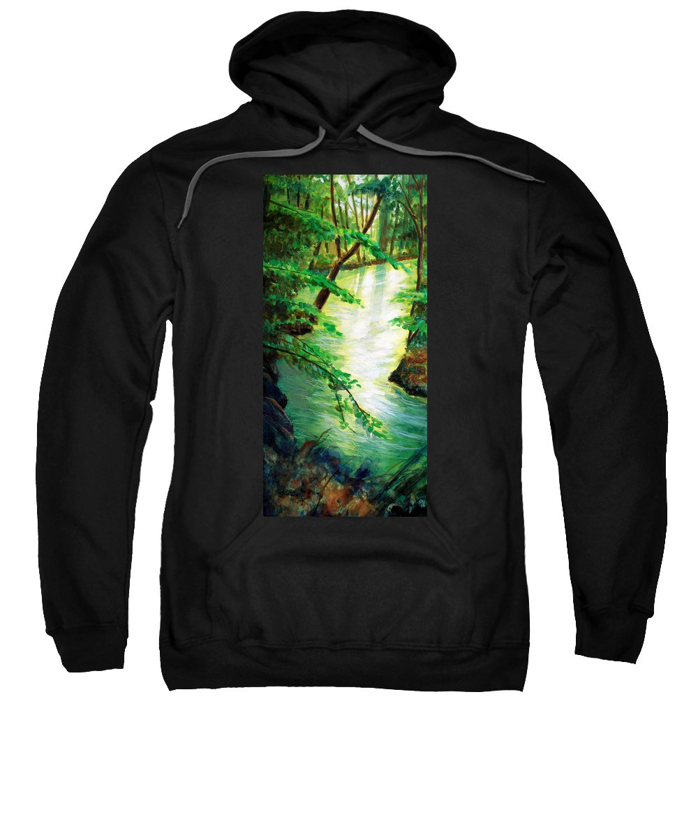 Forest Sweatshirt featuring the painting Fairfax Summer by Ken Meyer