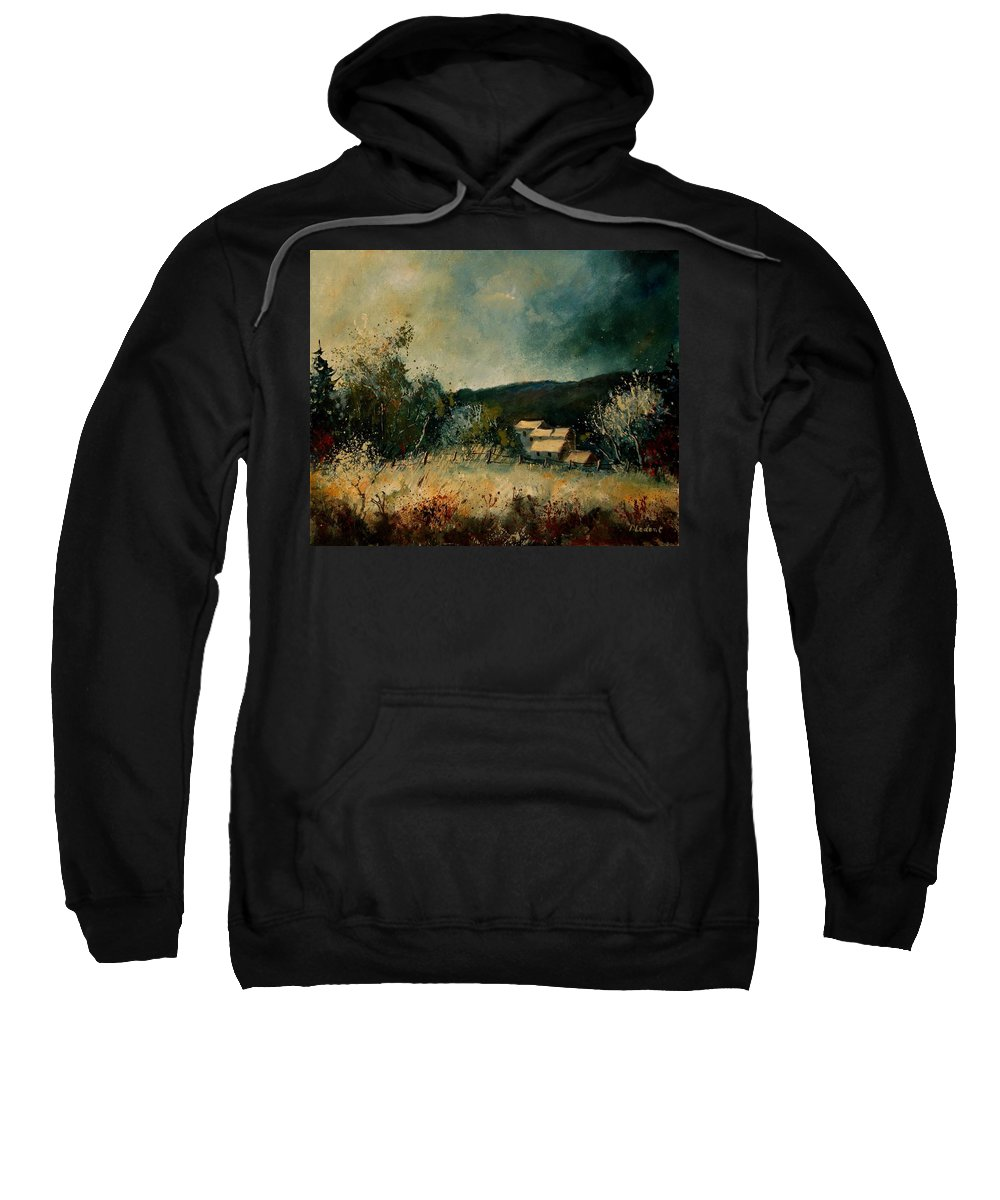 Village Sweatshirt featuring the painting Fall 4590 by Pol Ledent