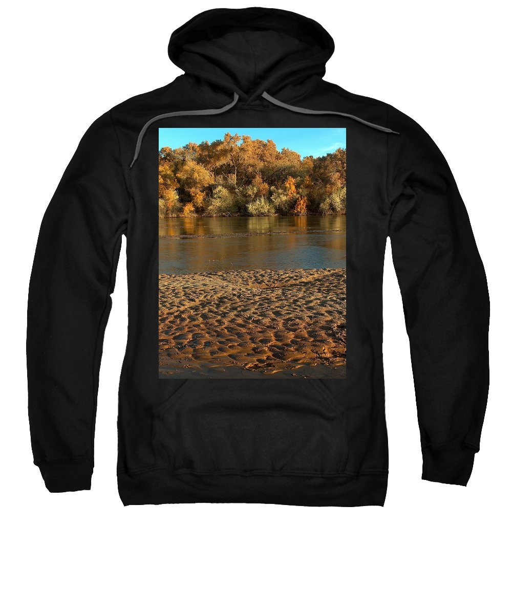 Fall Colors Sweatshirt featuring the photograph Fall Colors On The Rio Grande 1 by Tim McCarthy