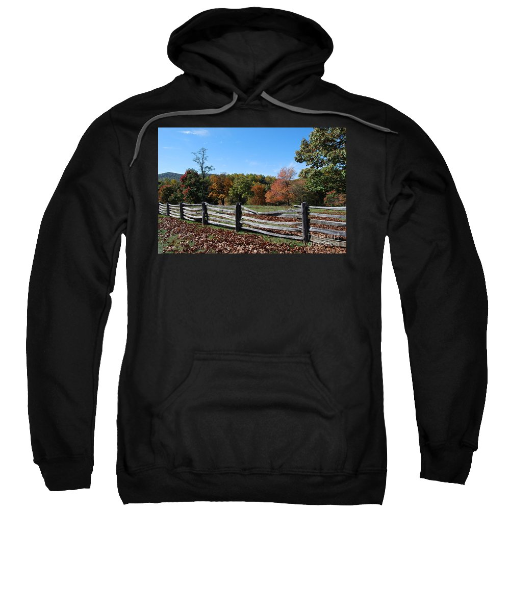 Rural Sweatshirt featuring the photograph Fall Fence by Eric Liller
