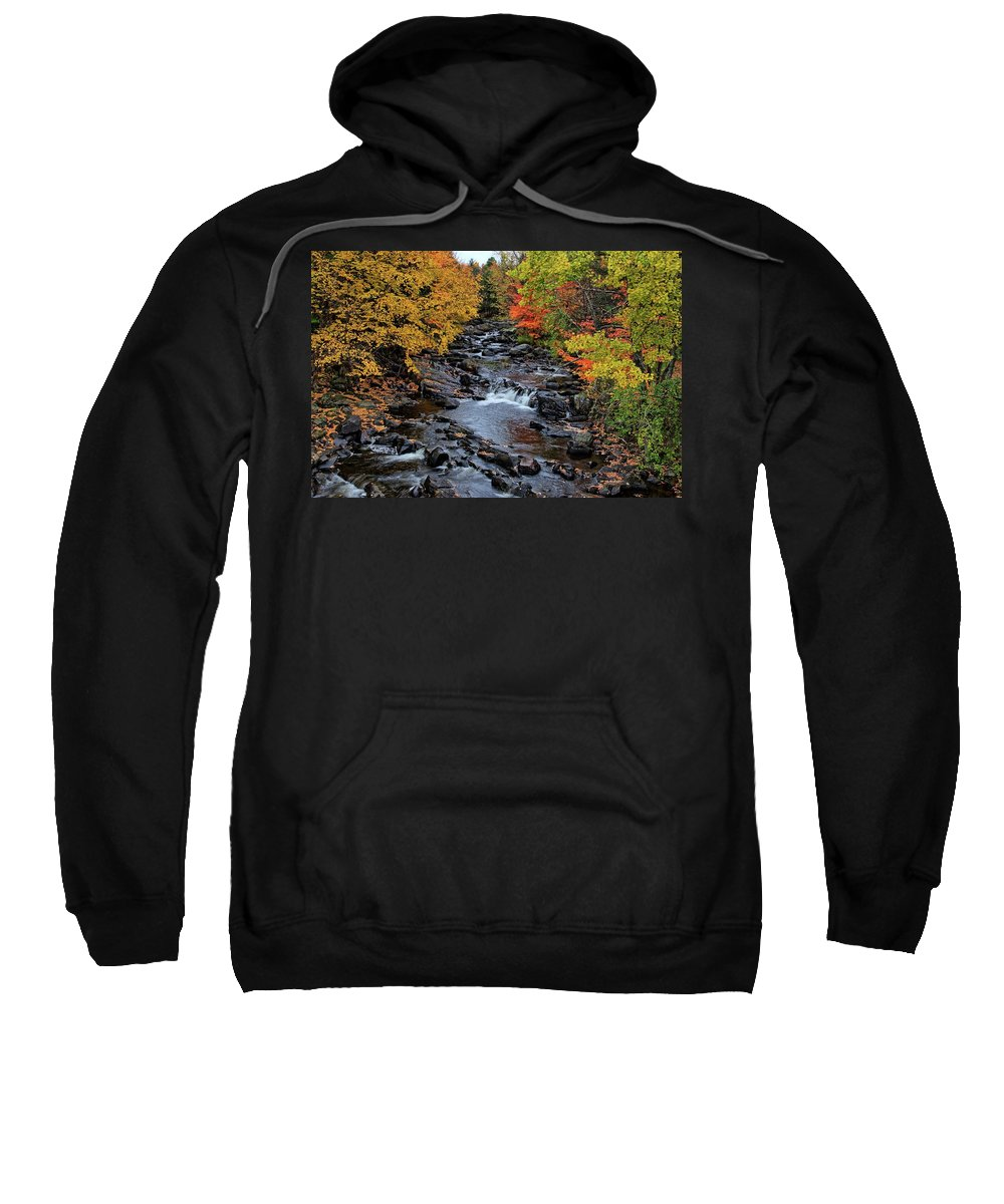Autumn Sweatshirt featuring the photograph Fall Foliage In Dickinson, Ny by Donald Straight