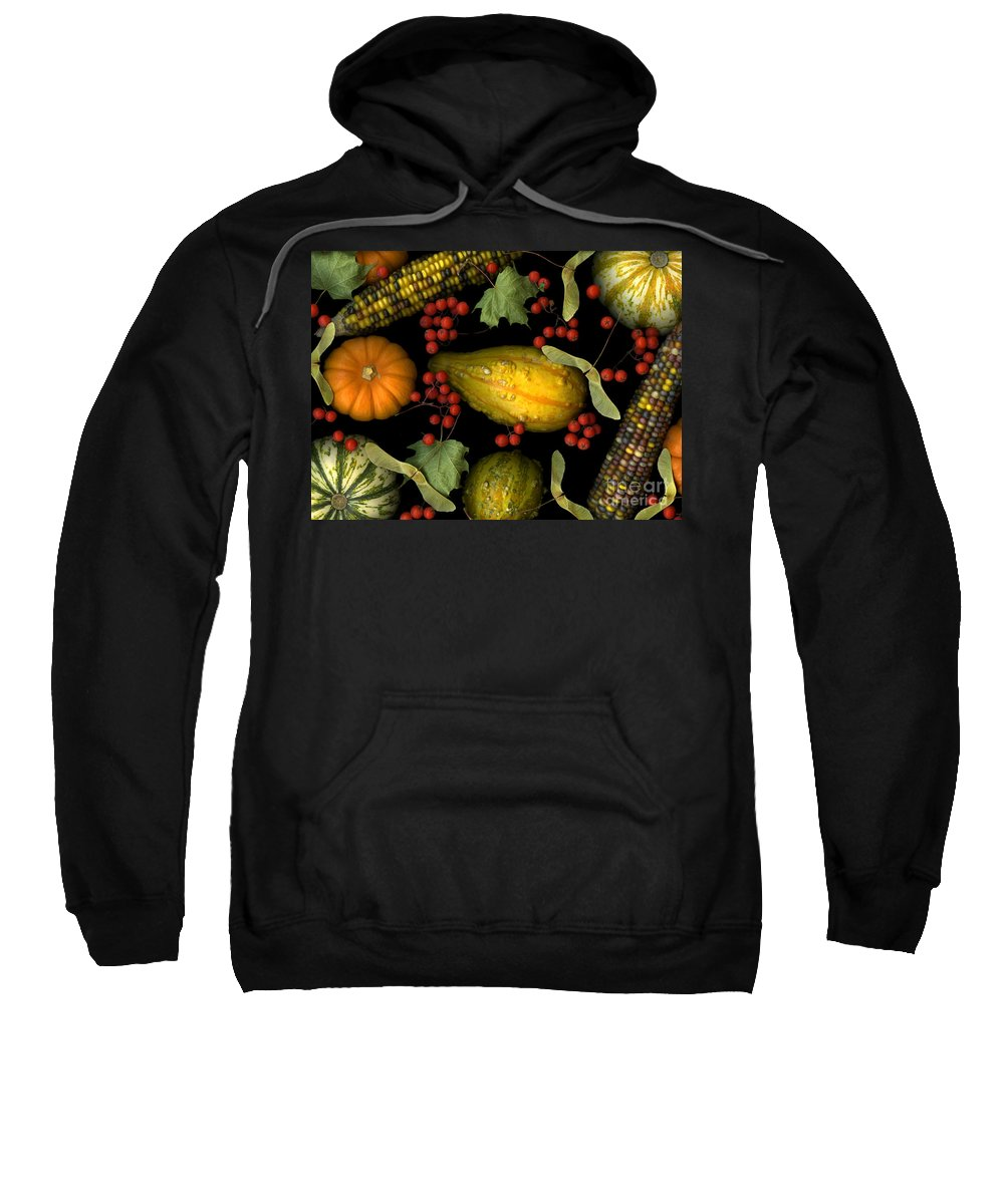 Slanec Sweatshirt featuring the photograph Fall Harvest by Christian Slanec