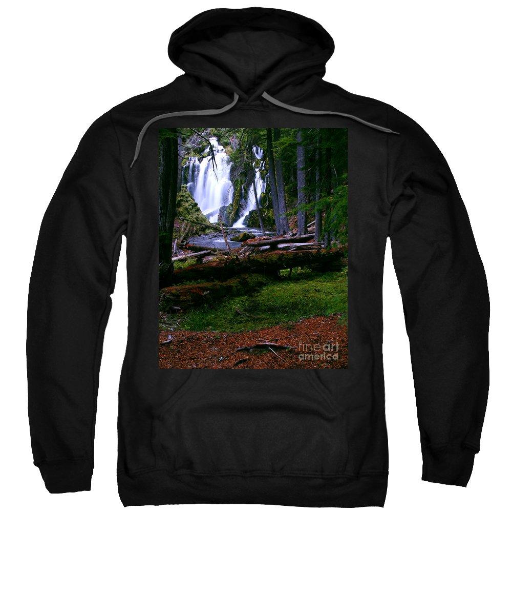 Waterfall Sweatshirt featuring the photograph Fall Through by Peter Piatt