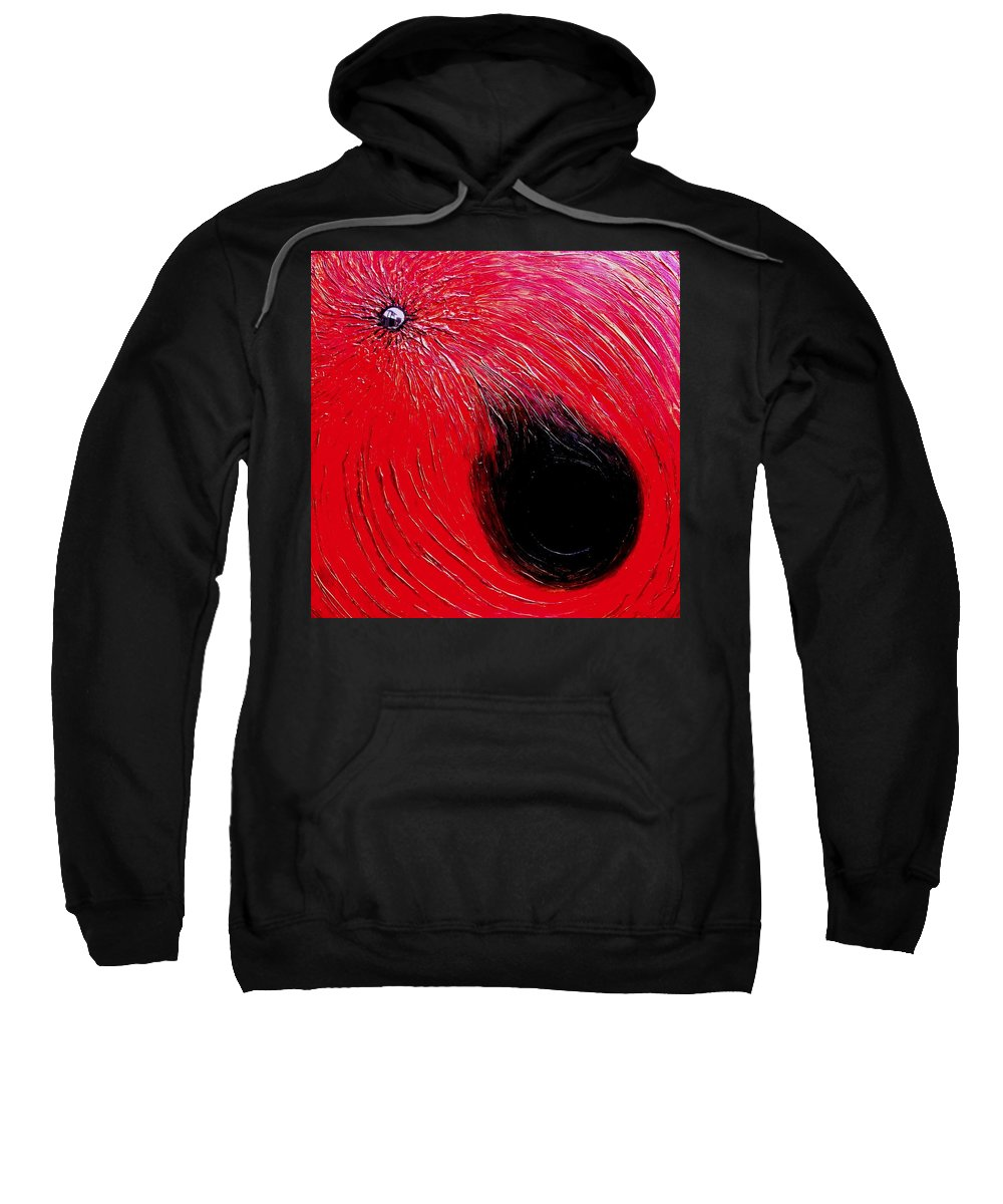 Abstract Sweatshirt featuring the painting Falling In To Passion by Ian MacDonald