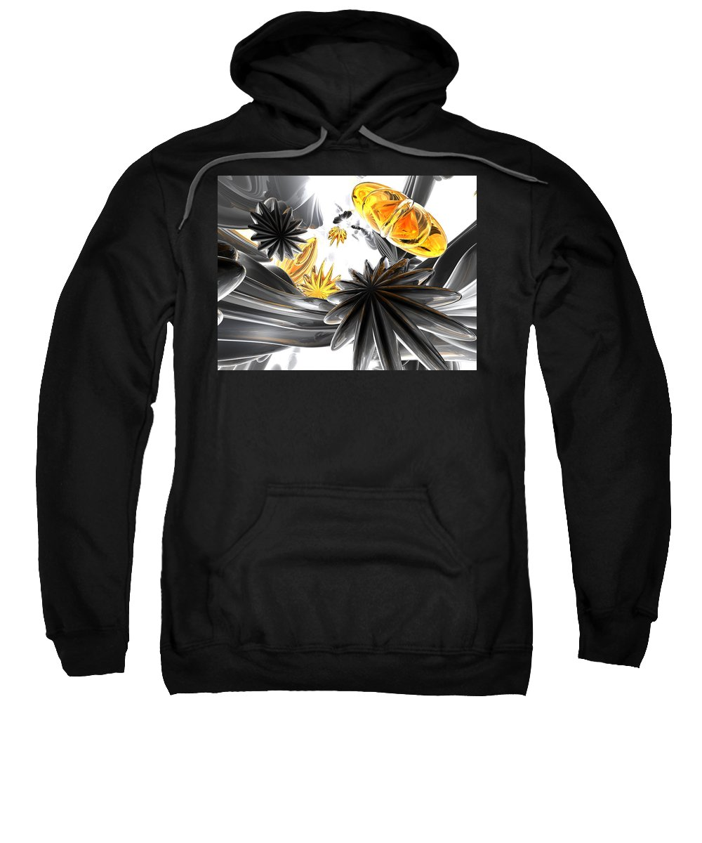 3d Sweatshirt featuring the digital art Falling Stars Abstract by Alexander Butler