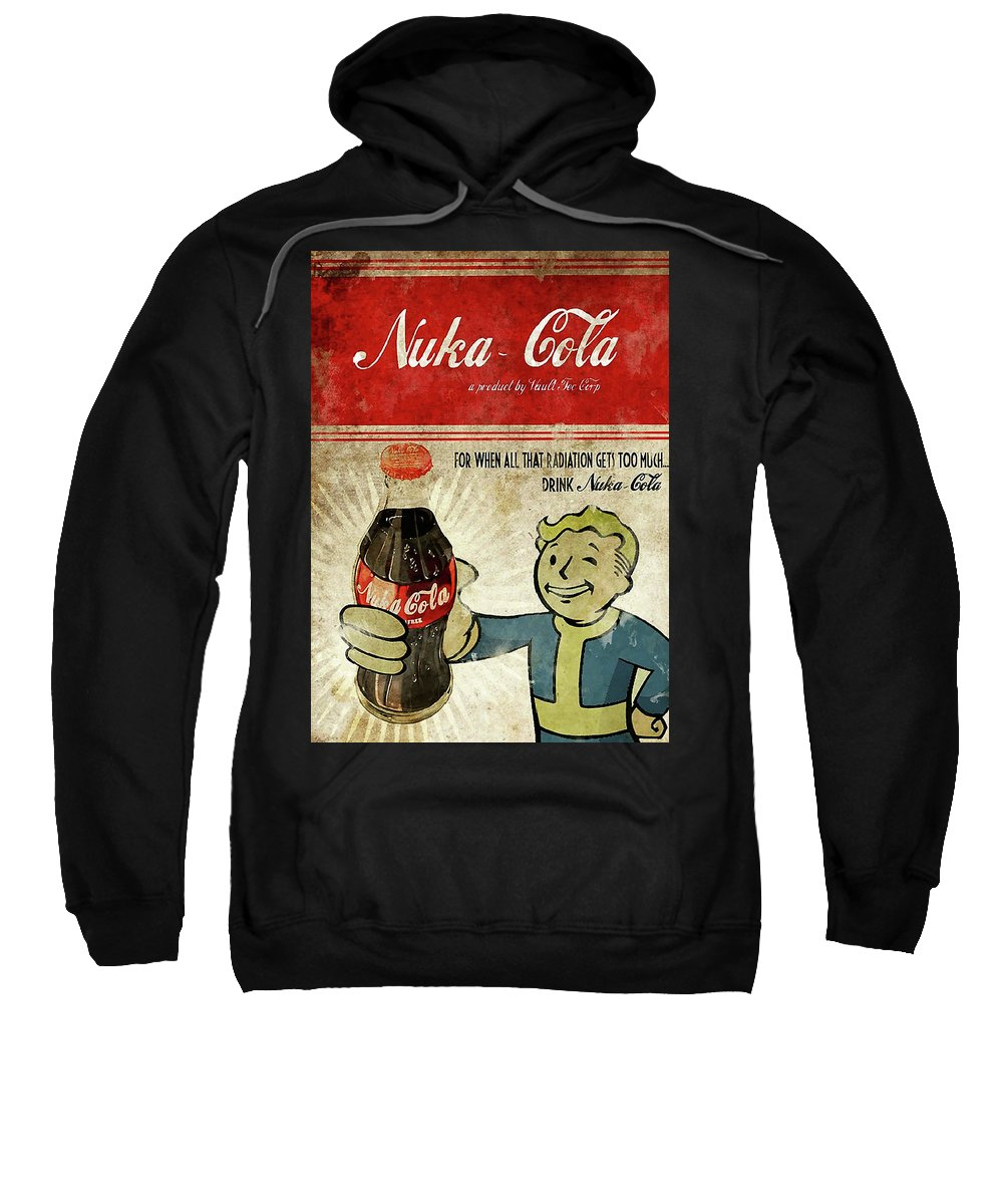 Nerd Geek Fallout Pcgame Game Falloutnewvegas Newvegas New Vegas Nuka Sweatshirt featuring the digital art Fallout by Lindri Lendiran