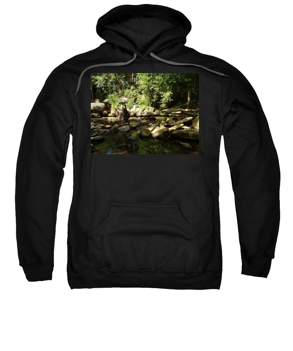 Falls Park Sweatshirt featuring the photograph Falls Park by Flavia Westerwelle