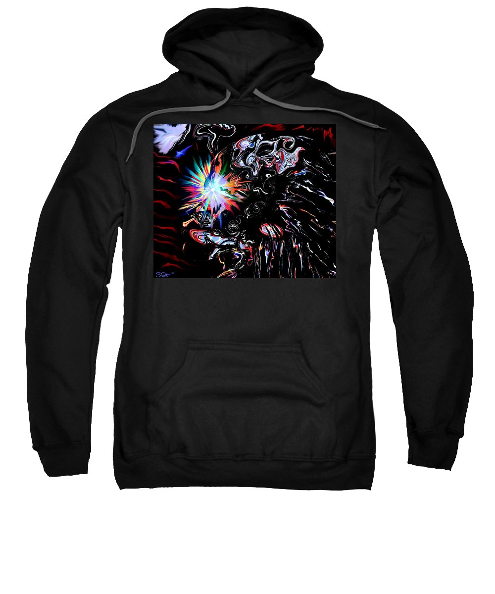 Figure Sweatshirt featuring the digital art Falon The Magician. by Abstract Angel Artist Stephen K