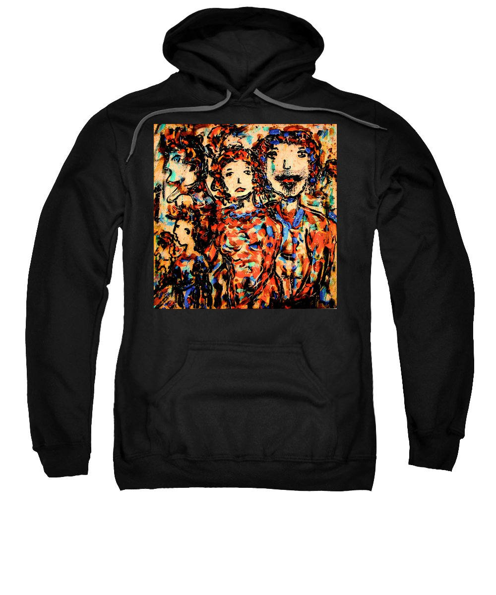 Figurative Art Sweatshirt featuring the painting Family And Friends by Natalie Holland