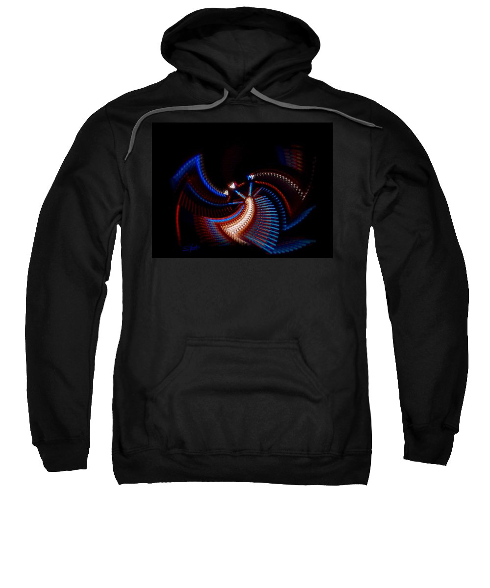 Chaos Sweatshirt featuring the photograph Fan Dance by Charles Stuart