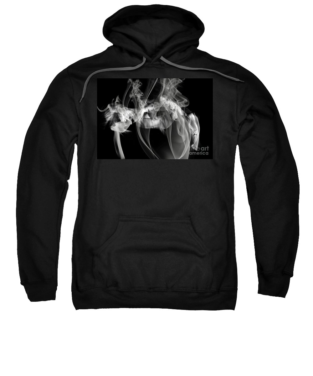 Clay Clayton Bruster Smoke Nude Art Erotic Abstract Beauty Wall Sexy Sensual Sweatshirt featuring the photograph Fantasies In Smoke Iv by Clayton Bruster