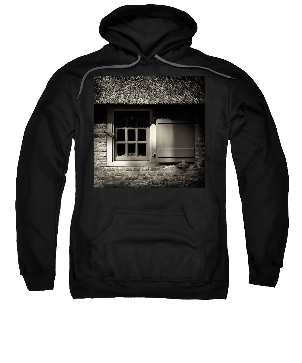 Dutch Sweatshirt featuring the photograph Farmhouse Window by Dave Bowman