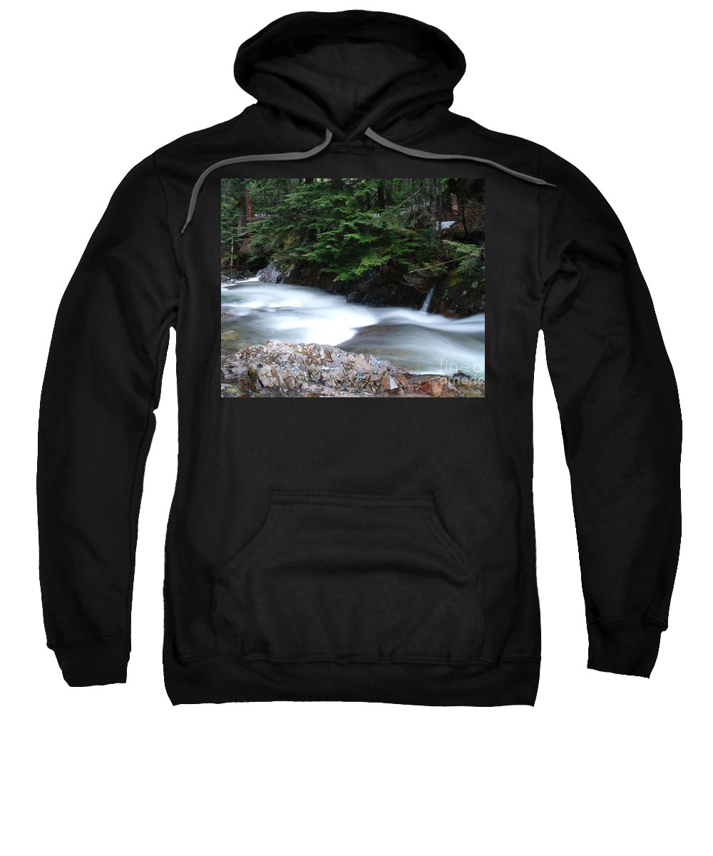Water Sweatshirt featuring the photograph Fast Water Tumbling Fast by Jeff Swan