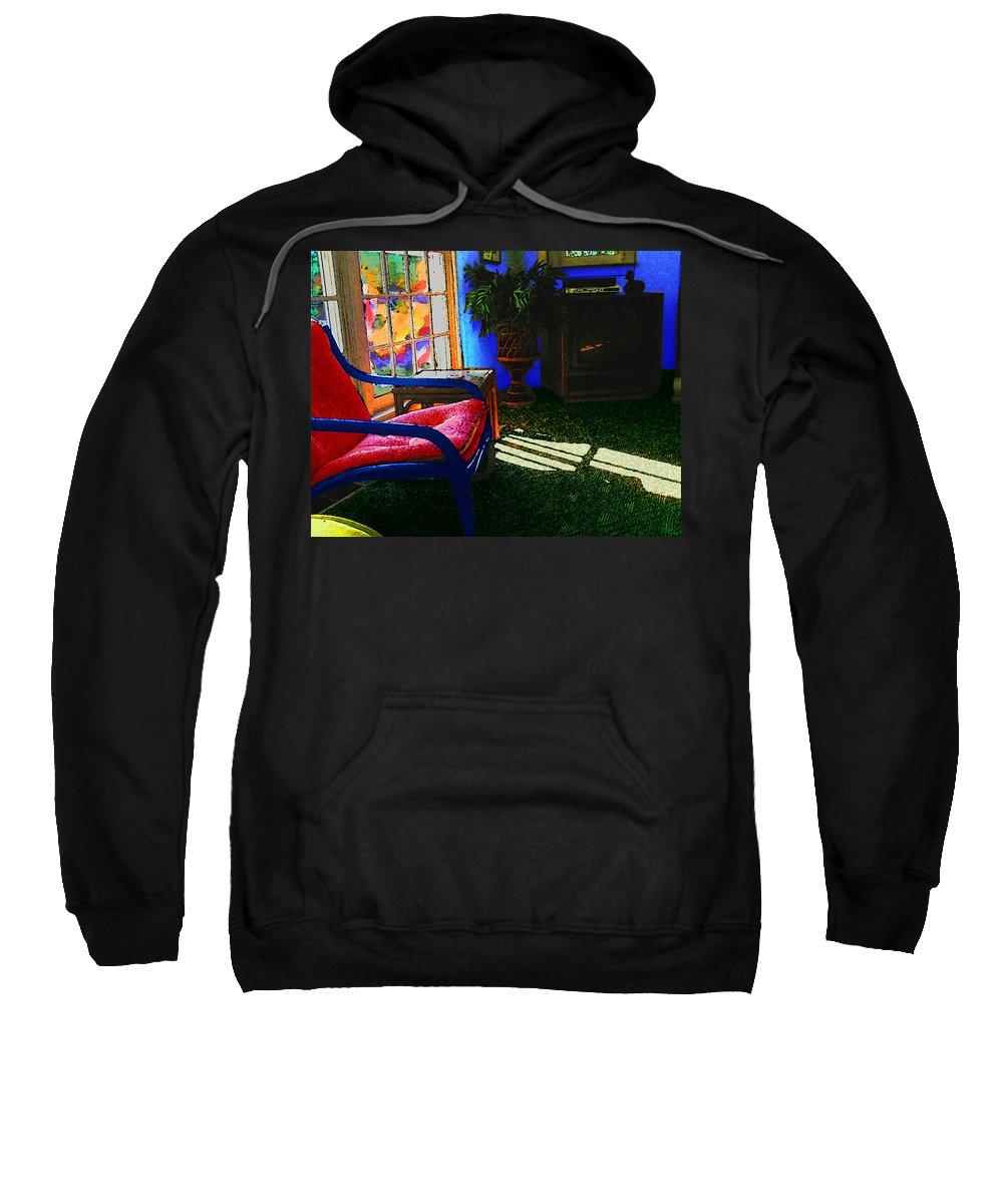 Fauve Sweatshirt featuring the digital art Faux Fauve Interior by William Sargent