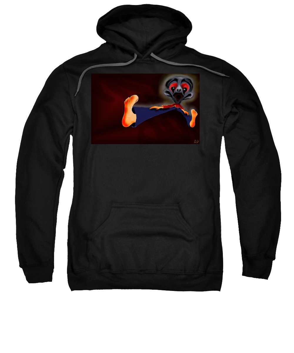 Dream Sweatshirt featuring the painting Fear Dream by Helmut Rottler