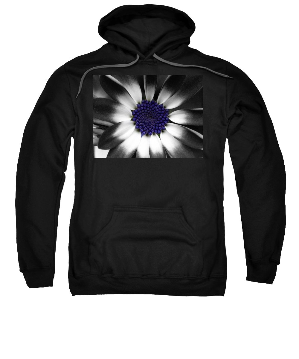 Floral Sweatshirt featuring the photograph Feeling Blue by Marla McFall