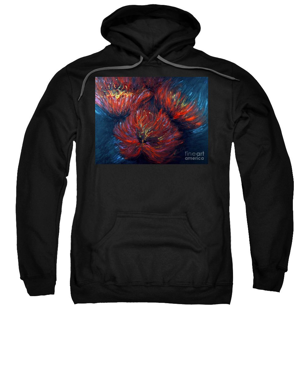 Abstract Sweatshirt featuring the painting Fellowship by Nadine Rippelmeyer