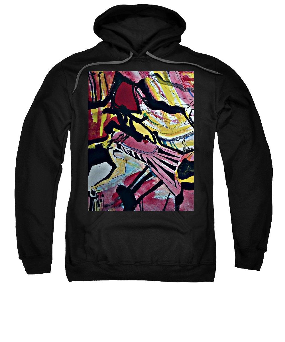 Katerina Stamatelos Art Sweatshirt featuring the painting Femme-fatale-16 by Katerina Stamatelos