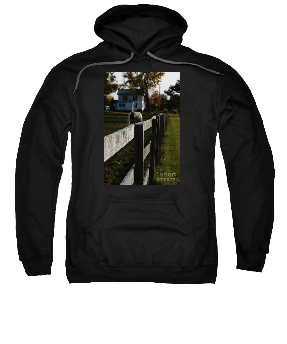 House Sweatshirt featuring the photograph Fence Line by Linda Shafer