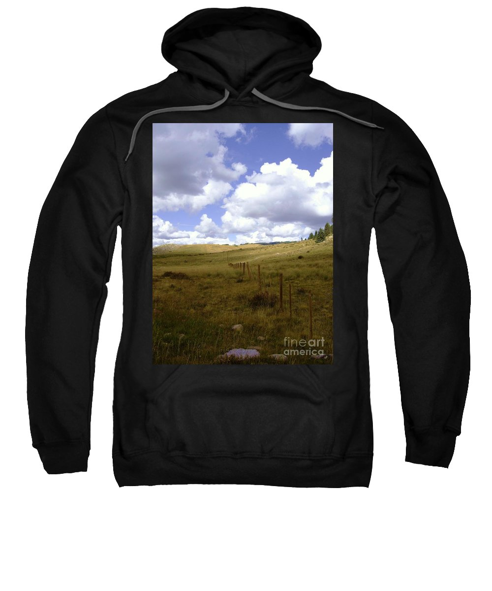 Scenery Sweatshirt featuring the photograph Fence Line by Mary Rogers