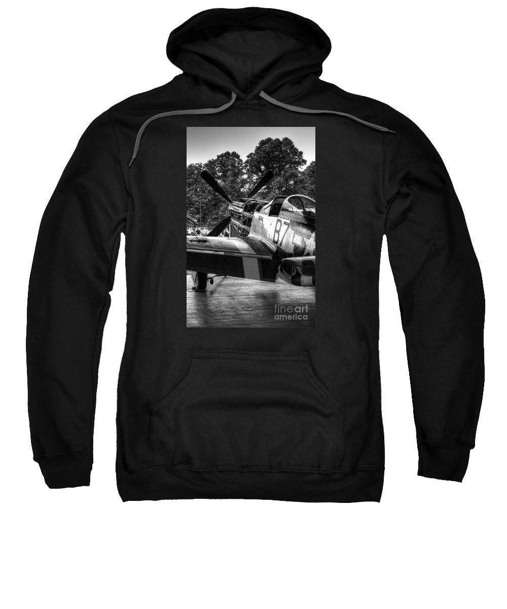 Aeroplane Sweatshirt featuring the digital art Ferocious Frankie by Nigel Bangert