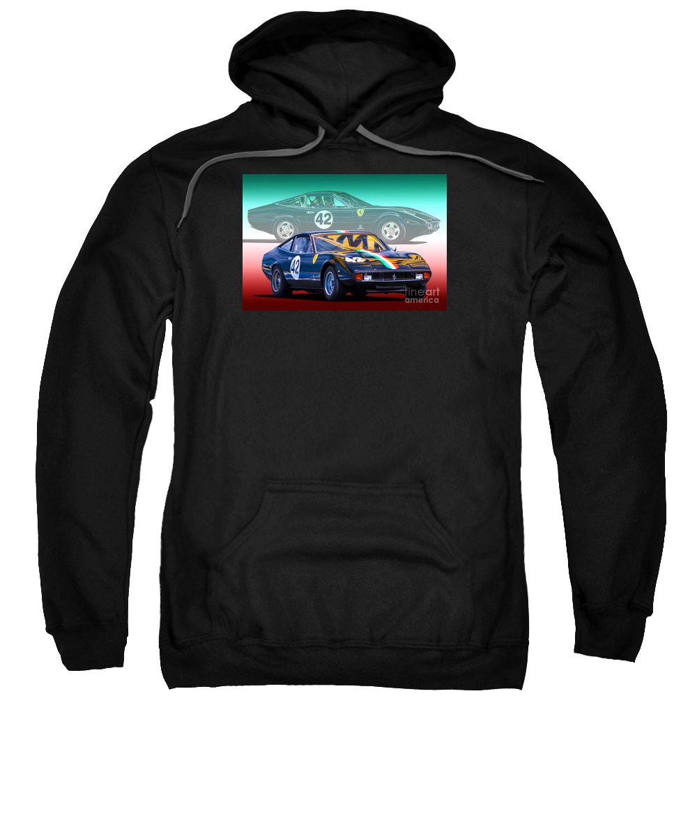 Ferrari Sweatshirt featuring the photograph Ferrari 365 Gtc4 by Stuart Row