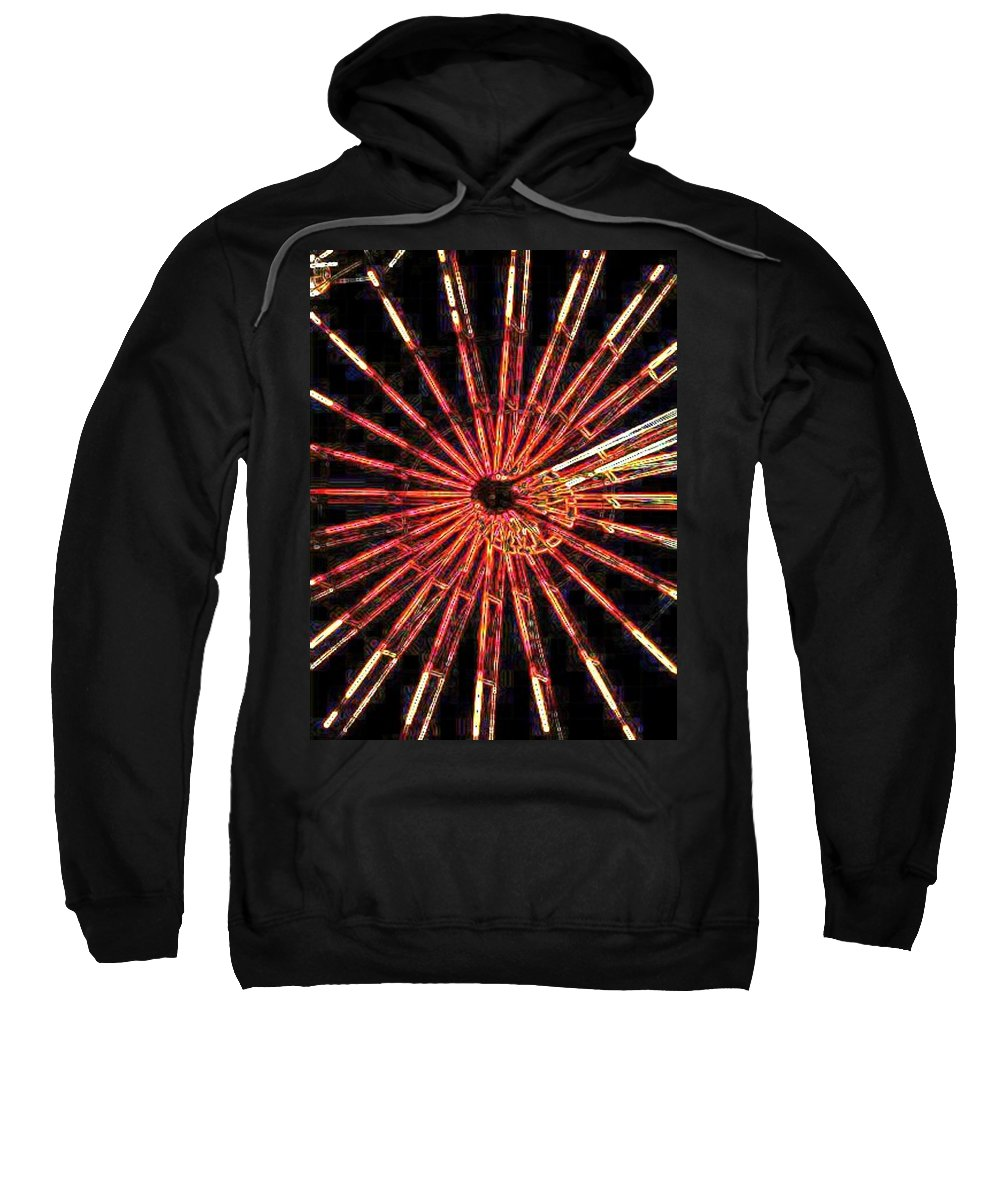 Ferris Wheel Sweatshirt featuring the digital art Ferris Wheel by Tim Allen