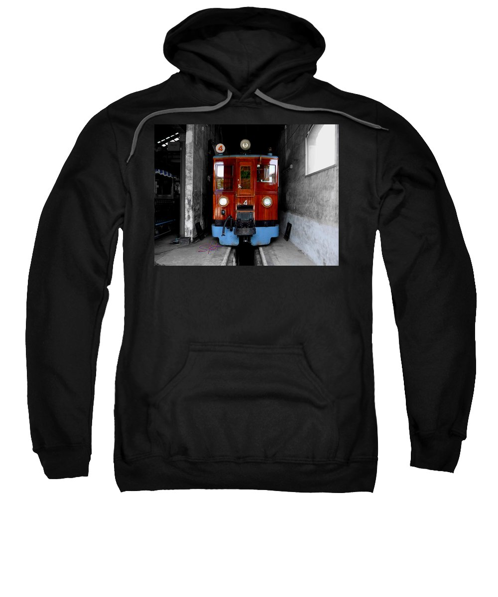 Train Sweatshirt featuring the photograph Ferrocarrril De Soller by Charles Stuart
