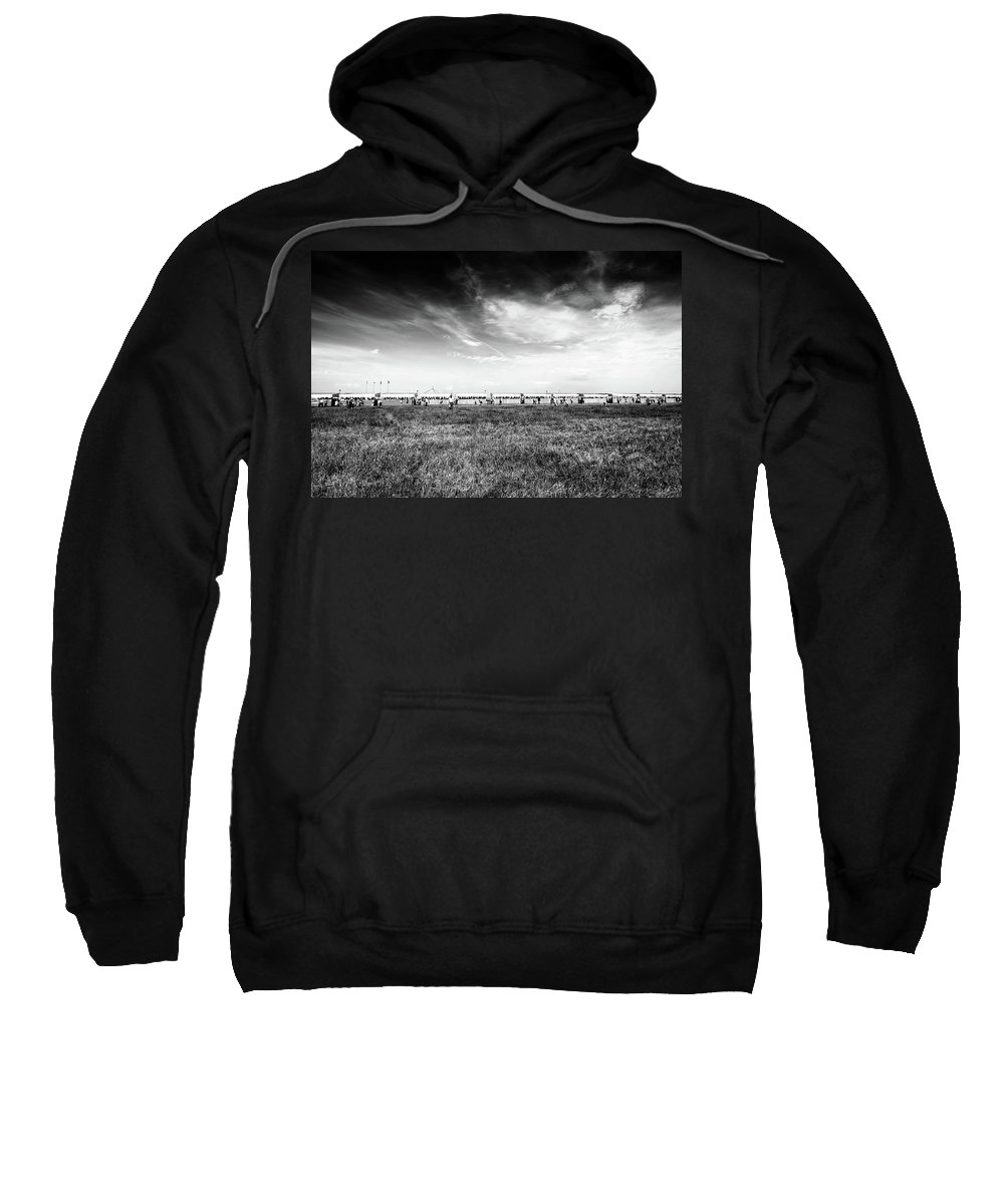 People Sweatshirt featuring the photograph Fields Of The Elysium Locomotive by John Williams