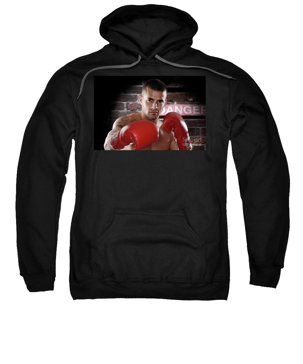 Kickboxer Sweatshirt featuring the photograph Fighter by Oleksiy Maksymenko
