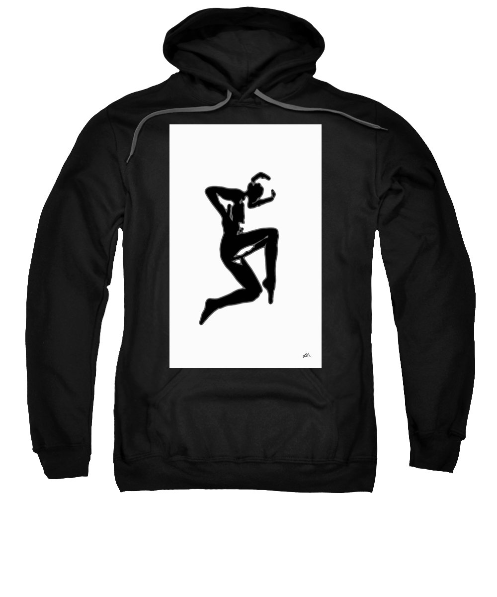 Abstract Sweatshirt featuring the digital art Figure Study Five by Linda Mears