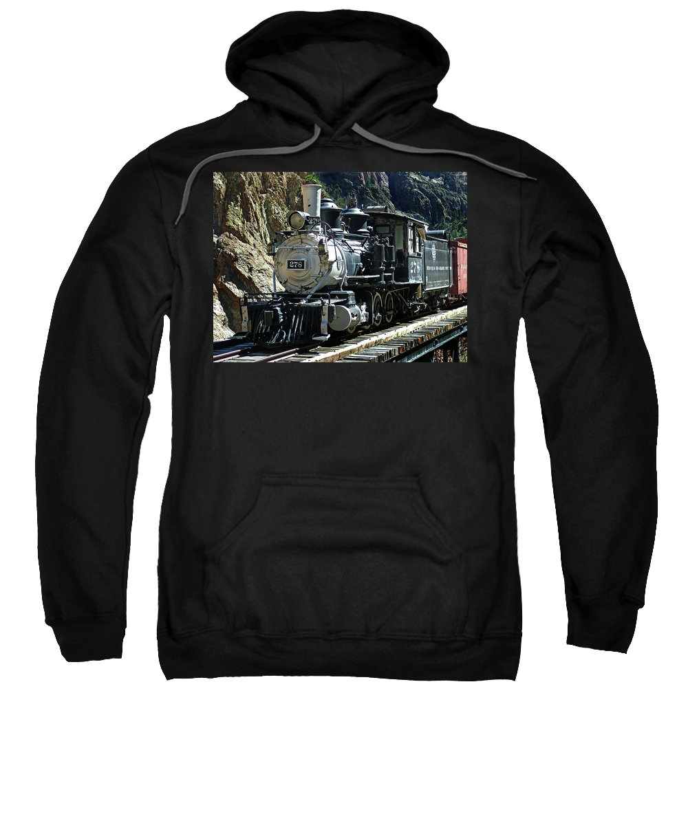Steam Train Sweatshirt featuring the photograph Final Resting Place by Ken Smith