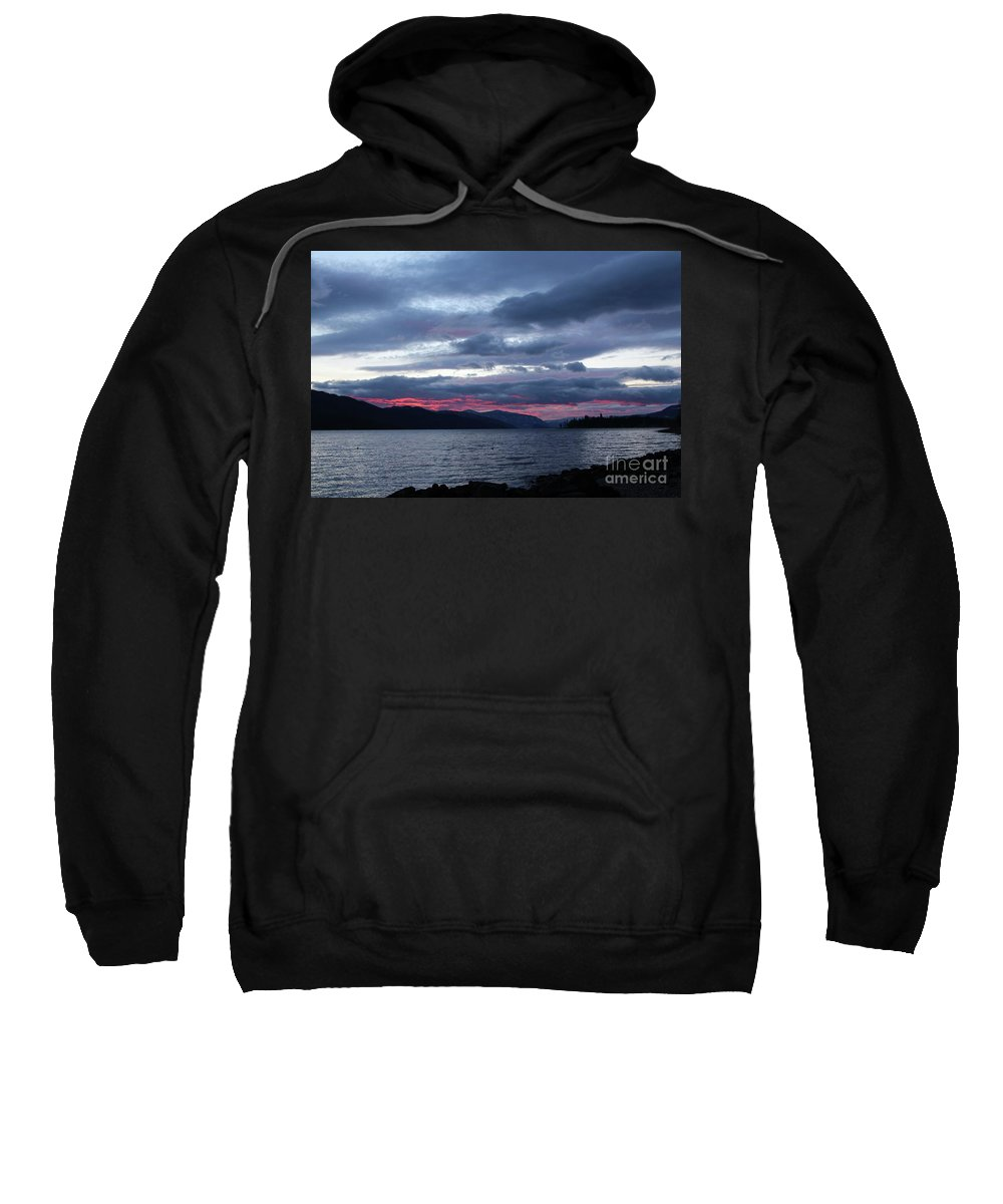 Sunset Sweatshirt featuring the photograph Final Touch by Victor K