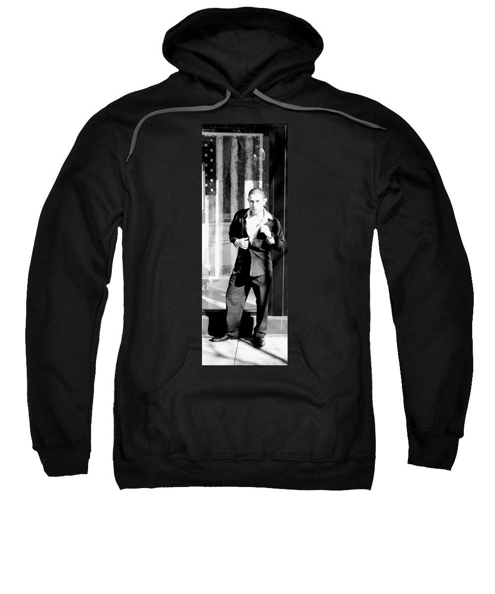 America Sweatshirt featuring the photograph Fine American Model by Angus Hooper Iii