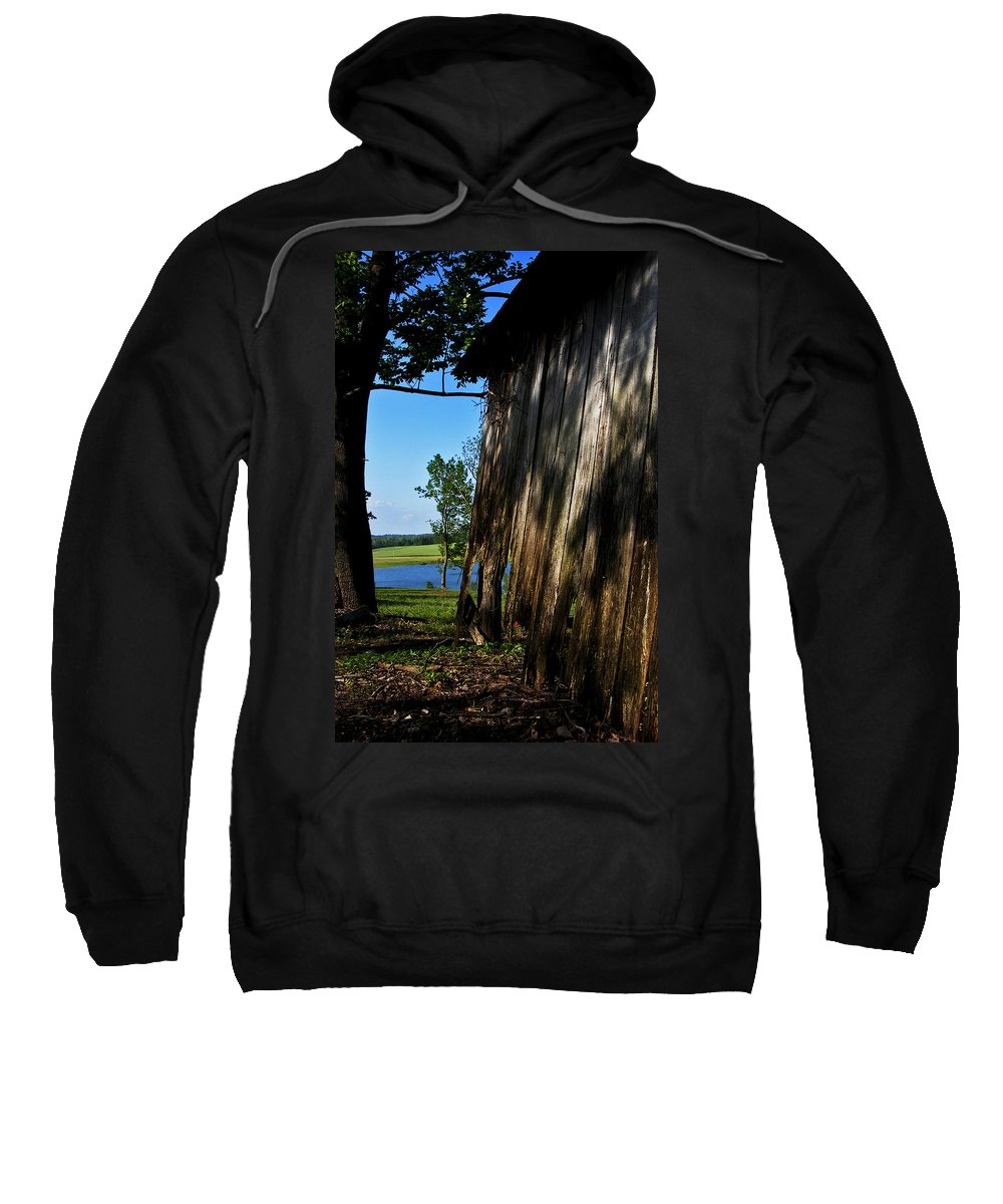 Landscape Sweatshirt featuring the photograph Fine Woodwork by Rachel Christine Nowicki