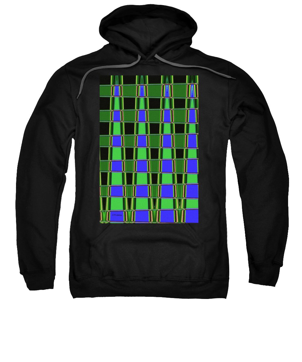 Fir Tree Fork Abstract #7075 Sweatshirt featuring the photograph Fir Tree Fork Abstract #7075 by Tom Janca