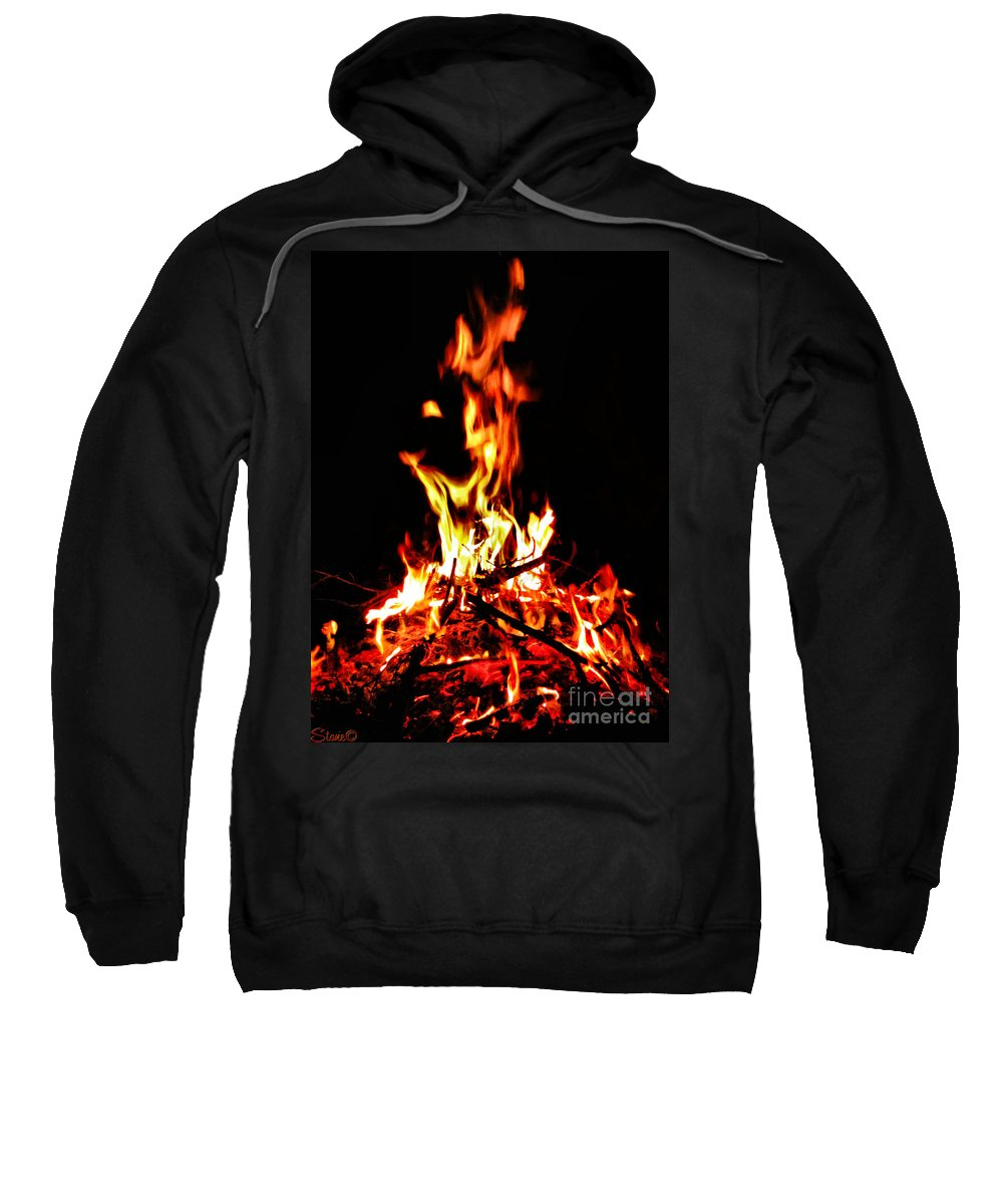 Fire Sweatshirt featuring the photograph Fire Dancer by September Stone