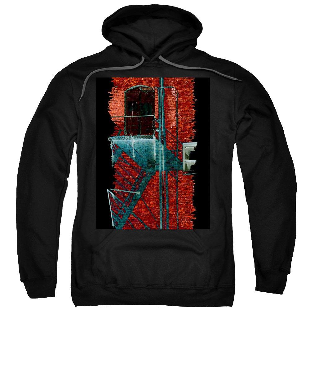 Fire Escape Sweatshirt featuring the digital art Fire Escape 7 by Tim Allen